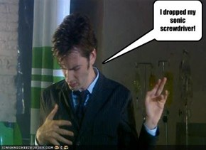 I dropped my sonic screwdriver!