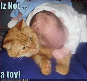 Iz Not . .   a toy!