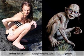 lindsay lohan Totally Looks Like gollum