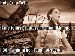 Holy Crap ToTo If the Jonas Brothers are gonna happen I DONT wanna be around to see it!