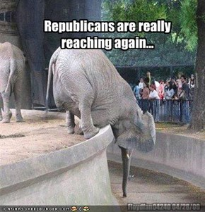 Republicans are really reaching again...