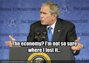 The economy? I'm not so sure where I lost it...