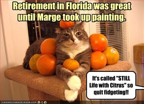 Retirement in Florida was great  until Marge took up painting.