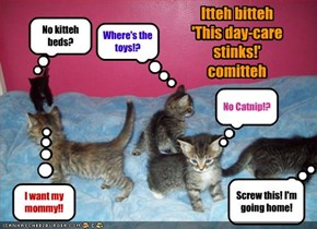 Itteh bitteh 'This day-care stinks!' comitteh