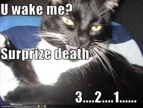 U wake me? Surprize death 3....2....1......