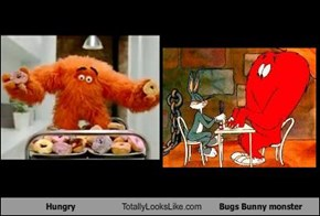 Hungry Totally Looks Like Bugs Bunny monster