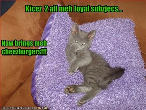 Kicez  2 all meh loyal subzjecs...