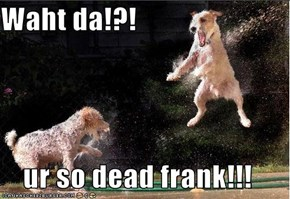 Waht da!?!  ur so dead frank!!!