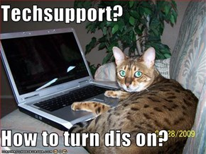 Techsupport?  How to turn dis on?