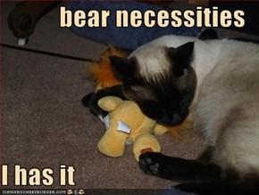 bear necessities  I has it