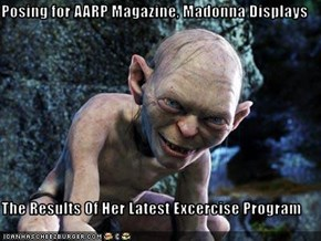 Posing for AARP Magazine, Madonna Displays  The Results Of Her Latest Excercise Program