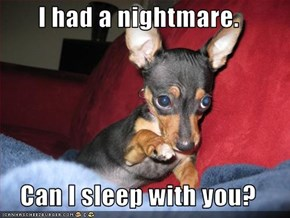 I had a nightmare.  Can I sleep with you?