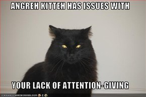 ANGREH KITTEH HAS ISSUES WITH  YOUR LACK OF ATTENTION-GIVING