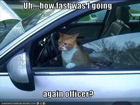 Uh....how fast was I going  again officer?