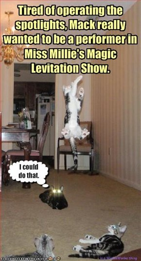 Tired of operating the spotlights, Mack really wanted to be a performer in 