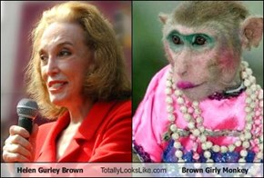 Helen Gurley Brown Totally Looks Like Brown Girly Monkey