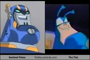 Sentinel Prime Totally Looks Like The Tick