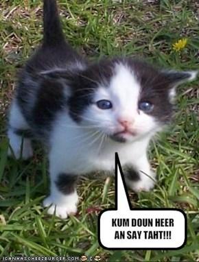 KUM DOUN HEER AN SAY TAHT!!!