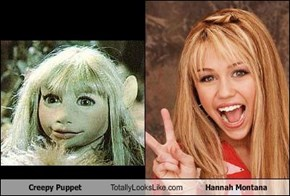 Creepy Puppet Totally Looks Like Hannah Montana