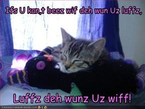 Luffz deh wunz Uz wiff!