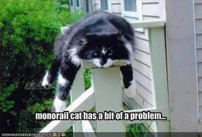 monorail cat has a bit of a problem...