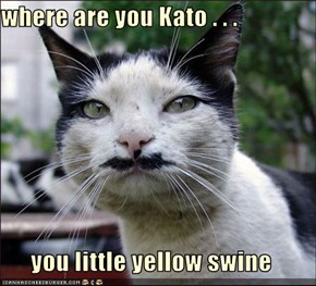 where are you Kato . . .  you little yellow swine