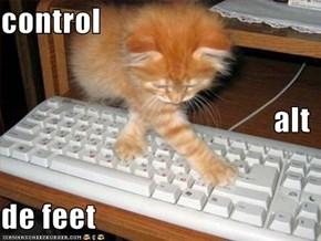 control alt de feet