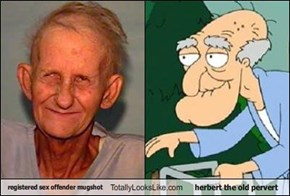 registered sex offender mugshot Totally Looks Like herbert the old pervert
