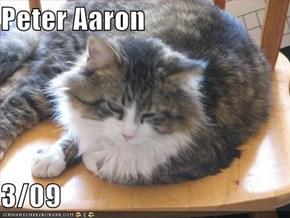 Peter Aaron  3/09
