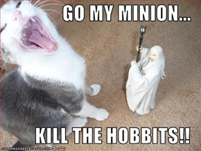 GO MY MINION...  KILL THE HOBBITS!!