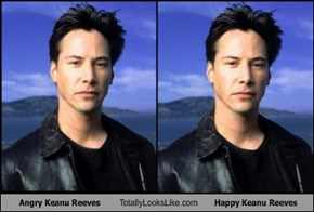 Angry Keanu Reeves Totally Looks Like Happy Keanu Reeves