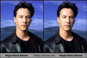 Angry Keanu Reeves Totally Looks Like Happy Keanu Reeves