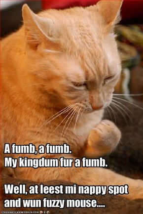 A fumb, a fumb.  
