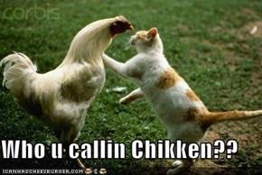 Who u callin Chikken??