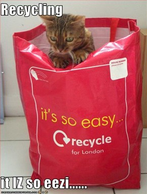 Recycling  it IZ so eezi......