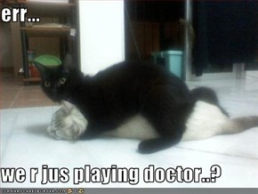 err...  we r jus playing doctor..?