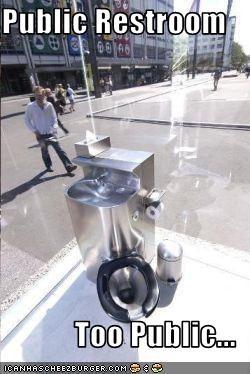 Public Restroom  Too Public...