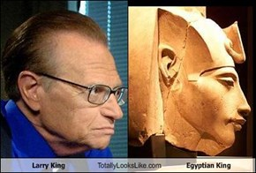 Larry King Totally Looks Like Egyptian King