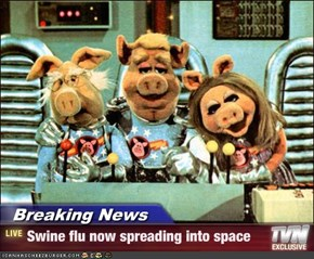 Breaking News - Swine flu now spreading into space