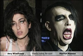 Amy Winehouse Totally Looks Like Marilyn Manson