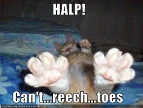 HALP!  Can't...reech...toes