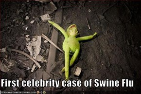 First celebrity case of Swine Flu