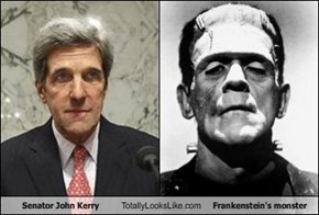 Senator John Kerry Totally Looks Like Frankenstein's monster
