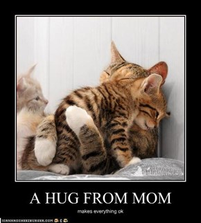 A HUG FROM MOM