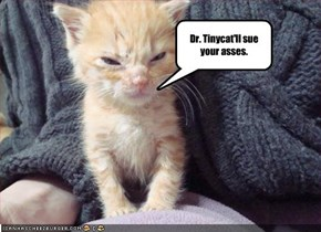 Dr. Tinycat'll sue your asses.