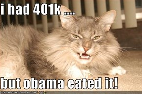 i had 401k ....  but obama eated it!