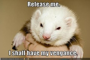 Release me.  I shall have my vengance.