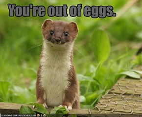 You're out of eggs.