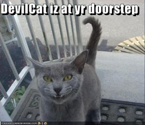 DevilCat iz at yr doorstep