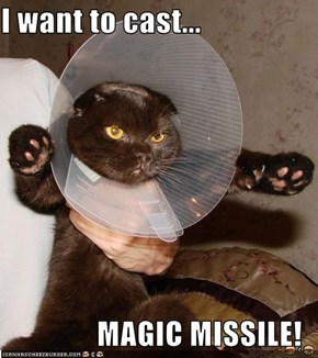 I want to cast...  MAGIC MISSILE!